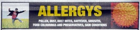 allergys (sic)